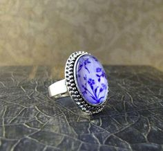 lavender color change ring floral garden every day by theglowtree, $15.00
