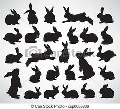 Illustration about Big collection of rabbit silhouettes. Illustration of silhouette, running, animal - 18380226 Rabbit Silhouette, Silhouette Clip Art, Animal Silhouette, Silhouette Tattoos, Bunny Tattoos, Rabbit Tattoos, White Rabbit Tattoo, Hase Tattoos, Small Rabbit