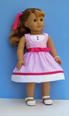 American Girl doll Maryellen inspired pink by MySewYouCreations