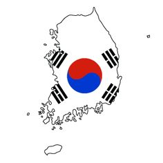 South Korea Flag Map by BritanniaLoyalist on DeviantArt South Korea Flag, Korea Map, Dream Note, Korean Flag, Flag Art, Gcse Art, Project 3, Travel Pictures, Pet Care