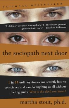 Book gives many different profiles of sociopaths/psychopaths.  Psychopaths are not just common criminals, they can be some of the most charming, successful persons one ever meets, but they can also destroy lives.  Very good book.
