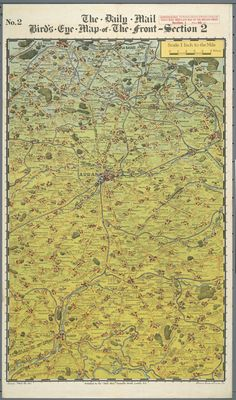 The Daily Mail bird's eye map of the British front [ca. 1916-1918] - Section 2