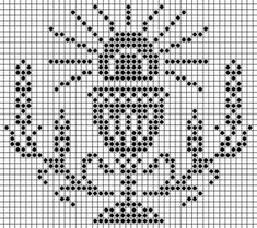Crochet Square Patterns, Crochet Lace Edging, Thread Crochet, Filet Crochet, Crochet Stitches, Embroidery Stitches, Crochet Doilies, Religious Cross Stitch Patterns, Faith Crafts