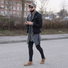 Sunday vibez. Jacket by @tigha_com Cardigan by @hm Jeans by @zara Shoes by @asos Cap by @dsquared2 Wish you all a nice evening ✌️ ____________________________________________ #pegadorfashion #pegadornürnberg #style #fashion #stylebook #instalike #instadaily #instafashion #outfitpost #whatiwore #menwithstyle #menwithstreetstyle #styleiswhat #dope #instalike #instatoday #pictureoftheday #potd #follow #followme