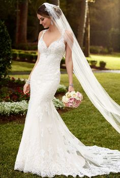v neck wedding dresses mermaid