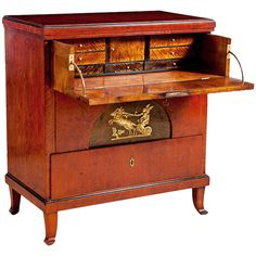 Biedermeier/Empire Chest of Drawers & Secretary, Northern Europe, Circa 1820 | From a unique collection of antique and modern commodes and chests of drawers at http://www.1stdibs.com/furniture/storage-case-pieces/commodes-chests-of-drawers/