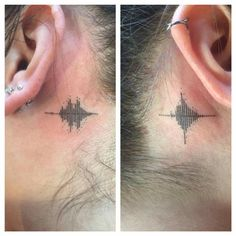 Sound waves are of her parents saying I love you. Awesome tattoo by Bryan Blanco.