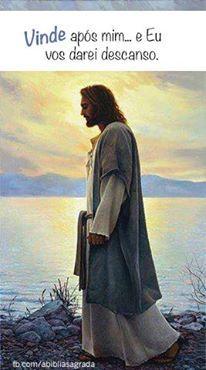 """""""Venham a mim, todos os que estão cansados e sobrecarregados, e eu darei descanso a vocês. Tomem sobre o meu jugo e aprendam de mim, pois sou manso e humilde de coração, e vocês encontrarão descanso para as suas almas. Pois o meu jugo é suave e o meu fardo é leve"""".  Mateus 11:28-30"""