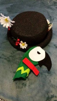 Mary Poppins hat parrot and bow tie for Children i #bow #children #hat #Mary #parrot #Poppins #tie