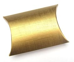 10 Small Gold Silk Gift Boxes / Wedding Favour by PulpandTwine