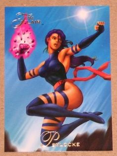 1994 Flair Marvel Universe (Fleer) Card #107 Psylocke EX