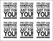 Printable Labels For Handmade Items Free
