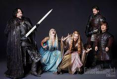Game of Thrones stars Kit Harington, Emilia Clarke, Lena Headey, Nikolaj Coster-Waldau, and Peter Dinklage