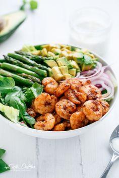 Blackened Shrimp and Asparagus Salad