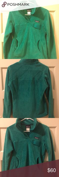 Patagonia Re-Tool Snap-T Fleece Pullover Link: https://www.rei.com/product/834555/patagonia-re-tool-snap-t-fleece-pullover-womens  Features Deep-pile Polartec® Thermal Pro® fleece is warm without bulk 51% of the polyester fibers are made from recycled plastic bottles, used garments and fabric remnants Stand-up collar has double fleece for warmth Front placket hides 4 snaps and is reinforced with durable Supplex® nylon Classic Snap-T chest pocket with a Supplex nylon flap Brushed microfleece…