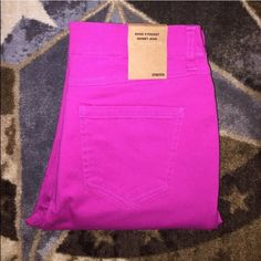 Magenta Pink Denim Skinny Jeans Beautiful pair of basic 5 pocket denim skinny jeans in amazing condition. No damage. Size large. Cotton Jangle Boutique Jeans Skinny
