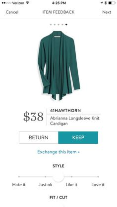 Elissa, I really like this style & color, but would like a white, cream, gray, as well.   Stitch fix 41Hawthorn Abriana Longsleeve Knit Cardigan