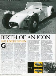 1957 Lotus Seven Caterham Super 7, Caterham Seven, Lotus 7, Lotus Elan, Lotus Sports Car, British Sports Cars, Automotive Art, Prisoner, Dream Garage