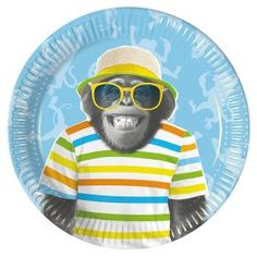 George Home Monkey Plates Party Tableware, Monkey, Plates, Shopping, Design, Licence Plates, Playsuit, Dishes, Monkeys
