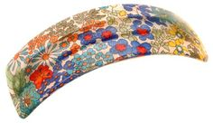 France Luxe Rectangle Volume Barrette  Floral Rhapsody OrangeBlue *** Check out this great product.