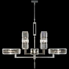 Crystal Enchantment Eight-Light Chandelier in Silver Leaf with Extraordinary Effect