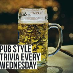 Get your A-team down to trivia tonight! Its time to flex those thinking muscles…