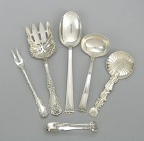antique sterling silver serving pieces