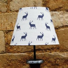 Striking Stag Grey Linen French Tapered Light Shade, unique and sophisticated www.serendipityhomeinteriors.com