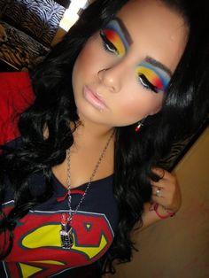 Superman makeup #halloween #dramatic #superman