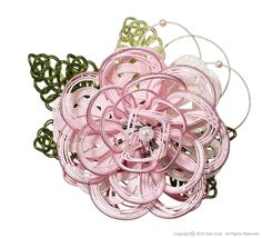 Resembling the chrysanthemum, a flower symbolic of Japan/ Decorative Japanese cord made from twisted paper, Mizuhiki. The lovely pink color makes for a brighter mood at celegrations or graduations. This is a good match for dress or kimono, and so light it won't bother you wear it,