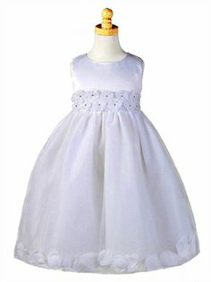 Ball Gown Tulle with beautiful floral petals flower girl dress FG033