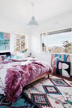 bohemian room, patterns, colorful, sunlight /pinterest: gigiguffey1