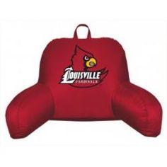 Louisville Cardinals Coordinating NCAA Bedrest Pillow from Kentex