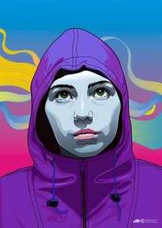 Vector Art by Orlando Aquije Abarca Pop Art Illustration, Portrait Illustration, Character Illustration, Vector Portrait, Portrait Art, Photoshop Effekte, Arte Pop, Vector Art, Vector Graphics