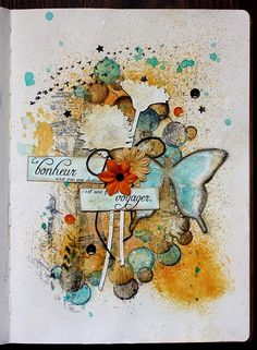 Magenta: Une page d'art journal / Art Journal Page