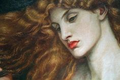 Rossetti's Lady Lilith (1866), detail.