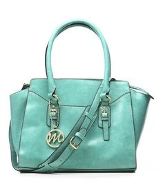 Turquoise Morgan Satchel by emilie m. #zulily #ad *what do you think of the color?