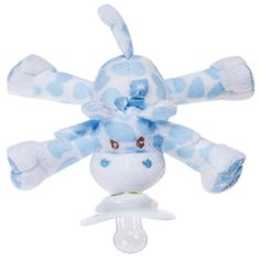 - Pacifier detaches for replacement & sanitation. Plush is machine washable. - Paci-Plushies® Pacifier Holders have a flexible Hug RingTM that attaches to a variety of baby's favorite pacifiers includ