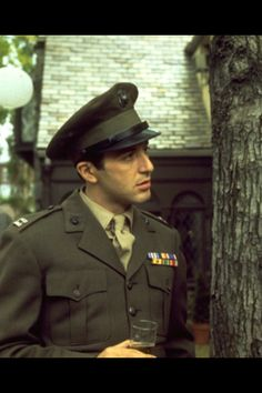 Michael Corleone in uniform All Movies, Great Movies, Italian Gangster, Young Al Pacino, Godfather Movie, The Way I Feel, Jealousy, Mafia, Famous People