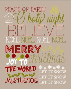 Here is the new Christmas Subway Art/Christmas Printable I made. I will be making one for every holiday and then I'm going to print them out. Christmas Subway Art, Christmas Quotes, Christmas Signs, Winter Christmas, All Things Christmas, Christmas Crafts, Christmas Ideas, Christmas Decorations, Christmas Vinyl