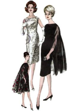 Vogue 5648  Vogue special Womens Vintage cocktail Dress  and Ming Stole Paper Sewing Pattern Fashion 1960's Size 14 Bust 34