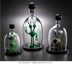 Furnace & Flame: Custom Glass Alien Specimens by Peter Muller and Joe Peters