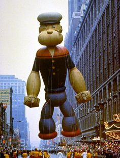 #Popeye in the Macy's #Thanksgiving Day Parade 1968 #NYC