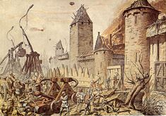Besieging armies used a wide variety of siege engines including: scaling ladders; battering rams; siege towers and various types of catapults such as the mangonel, onager, ballista, and trebuchet. Siege techniques also included mining in which tunnels were dug under a section of the wall and then rapidly collapsed to destabilize the wall's foundation. Several of these siege techniques were used by the Romans but experienced a rebirth during the Crusades.