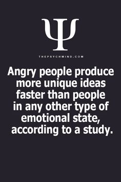 Anger's Productiveness