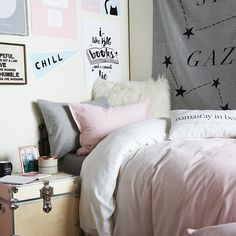 comfy cozy in the Pink Ombre Duvet