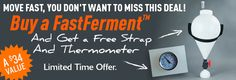 Buy a FastFerment Conical Fermenter from Midwest Supplies and they'll throw in a a free FastFerment Dial Thermometer and a FastFerment Carrying Strap. That's a $34 savings. Grab the fu…