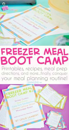 Freezer Meal Boot Camp    Make Ahead Freezer Cooking For New Moms    Cheap Easy on a Budget    Easy with Shopping List