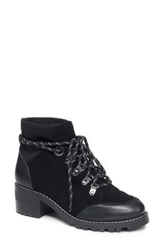 $158.95. BCBGENERATION Boot Nalli Bootie #bcbgeneration #boot #shoes Moto Boots, Ankle Boots, Coral Flats, Bootie Sandals, Bcbgeneration, Leather Booties, Black Suede, High Top Sneakers, Peep Toe