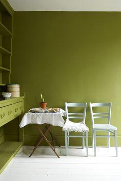 #groene muur, #groen interieur